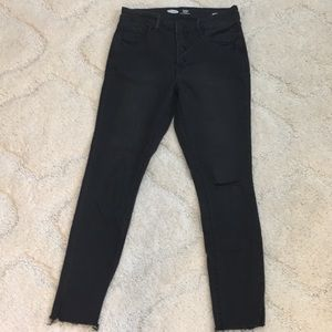 Old Navy black distressed high rise jeans